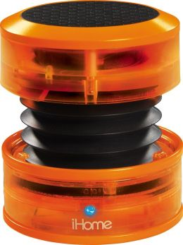 iHome iHM60 Rechargeable Mini Speaker - Orange Neon