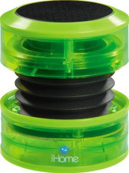 iHome iM60QN Rechargeable Mini Speaker - Green Neon