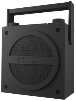 iHome iBT4GC Bluetooth Wireless Rechargeable Boombox with FM Radio - Gunmetal