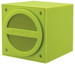 iHome IBT16QB Bluetooth Rechargeable Mini Speaker Cube in Rubberized Finish - Green