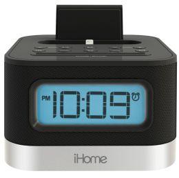 iHome iPL10 Dual Charging Stereo FM Clock Radio with Lightning Dock