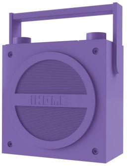 iHome iBT4UC Bluetooth Wireless Rechargeable Boombox with FM Radio - Purple
