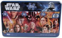 Star Wars Panorama 3 puzzles in Tin