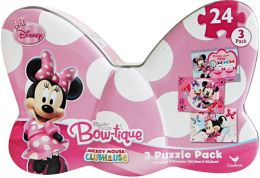 Minnie Bowtique 3 Puzzles in a Tin