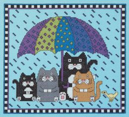 Rain Rain Go Away Counted Cross Stitch Kit-9