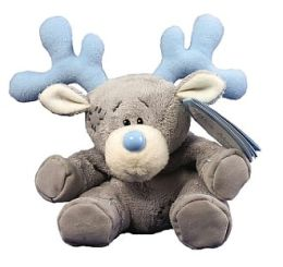 4 Inch Blue Nose Reindeer Plush Doll