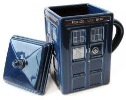 Doctor Who 2D TARDIS Sculpted Ceramic Mug