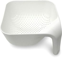 Square Colander Small - White