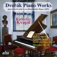 Dvorák: Piano Works Played on Dvorák's Own Bösendorfer Piano, Vol. 2