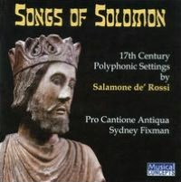 Salamone de' Rossi: The Songs of Solomon