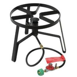 Bayou Classic SP-1 12 Inch Tall Jet Cooker with Flame Spreader