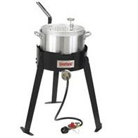 Bayou Classic 2212 Outdoor Fish Cooker - 22 Inch Tall Frame with 10 PSI Regulator
