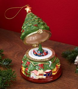 Holiday Tree Porcelain Music Box