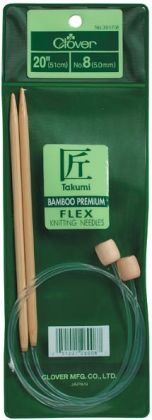 Bamboo Flexible Knitting Needles 20