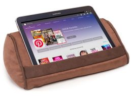 Ultra Suede Tablet Pillow in Brown