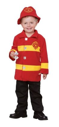 Brave Firefighter Toddler Costume: Size Toddler (2T-4T)