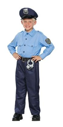Deluxe Policeman Child Costume: Size Medium (8-10)