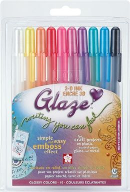 Gelly Roll Glaze Pens 10/Pkg-Brights