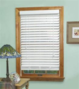 Achim Mf4364Wh02 - Madera Falsa 2 Inch Faux Wood Blind - 43 X 64 Inches - White
