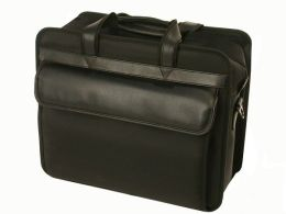 Bond Street 467706BLK Black Ballistic Nylon Computer Briefcase with Removable Shoulder Strap