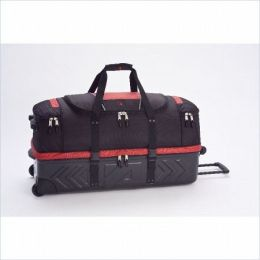 Athalon Sportsgear 963RBL Athalon Molded 32 in. Wheeling Duffel Red-Black