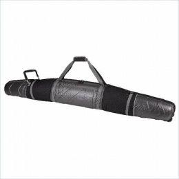 Athalon Sportsgear 903SB Athalon Molded Wheeling Double Ski Bag - 165cm Silver-Black