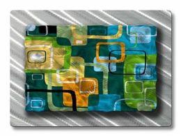 All My Walls ABS00020 Retro Tiles Metal Wall Art
