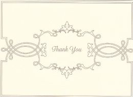 Decorative Bracket Thank You Boxed Note Card Set of 10