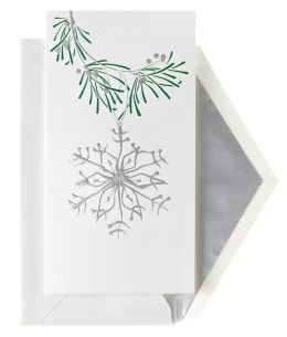 Unicef Silver Ornament Christmas Boxed Card