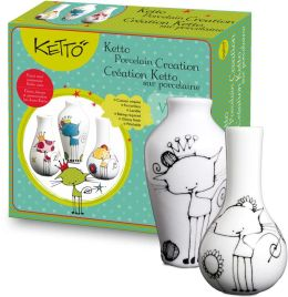 KETTO Paint-it-yourself Vases - Cat Theme