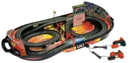 Life Like Champions Speedway Fold N Go Kid Powered Crank slot car race set