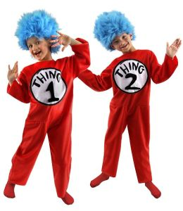 Dr. Seuss Thing 1 and 2 Child Costume: S (4-6)