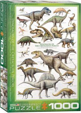 Dinosaurs Cretaceous 1000 Piece Puzzle
