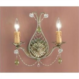 Abigail Collection 4712-BI Abigail Wall Sconce Adorned with Light Topaz Swarovski Strass Crystal