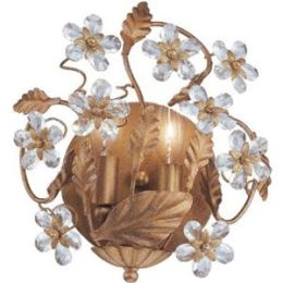 Abbie Collection 5302-GL Abbie Collection Hand Cut Crystal Wall Sconce
