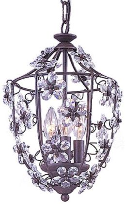 Abbie Collection 5303-DR Abbie Collection Hand Cut Crystal Mini Lantern