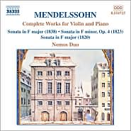 Mendelssohn: Complete Works for Violin and Piano
