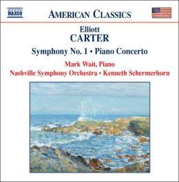 Carter: Symphony No. 1, Piano Concerto