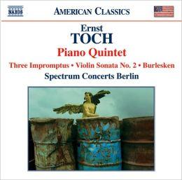 Ernst Toch: Piano Quintet