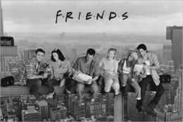 Friends - Lunch on a Skyscraper - Poster