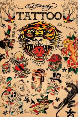 Ed Hardy Tattoo Collage - Poster