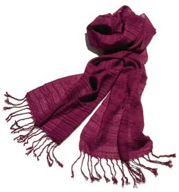 Burgundy Distressed Scarf