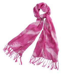 Fuchsia Tie Dye Scarf