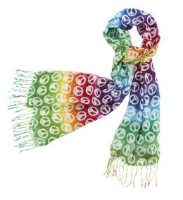 Dip Dyed Peace Scarf