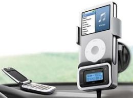 King of The Road - Bluetooth Hands Free Car Kit with FM transmitter for iPhone and iPod