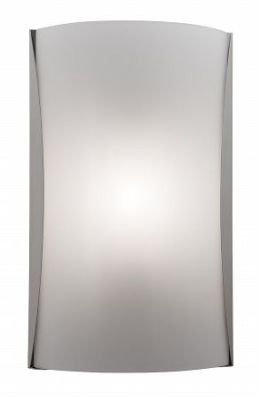 Access Lighting 62050-BS-OPL Radon 13.75'' 1 Light Opal Glass Wall Fixture - Brushed Steel