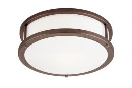 Access Lighting 50080-BRZ-OPL Conga 2 Light Flush - Mount - Bronze