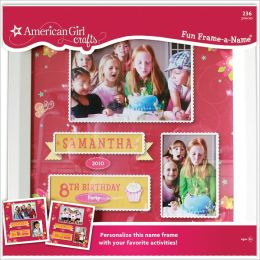 American Girl Crafts Fun Frame A Name