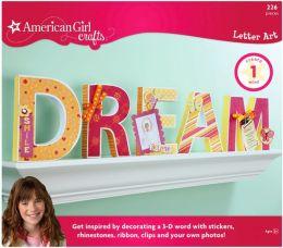 American Girl Letter Art Kit