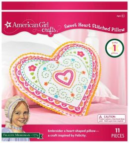 American Girl Crafts Embroidered Pillow Kit, Felicity Sweet Heart